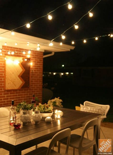 Patio Cafe Lights A Family Friendly Outdoor Dining Space By House Tweaking Restaurant Lighting And String Lights