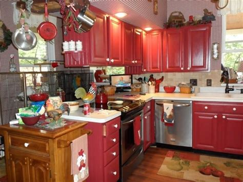 red kitchen furniture astonishing country red kitchen cabinets