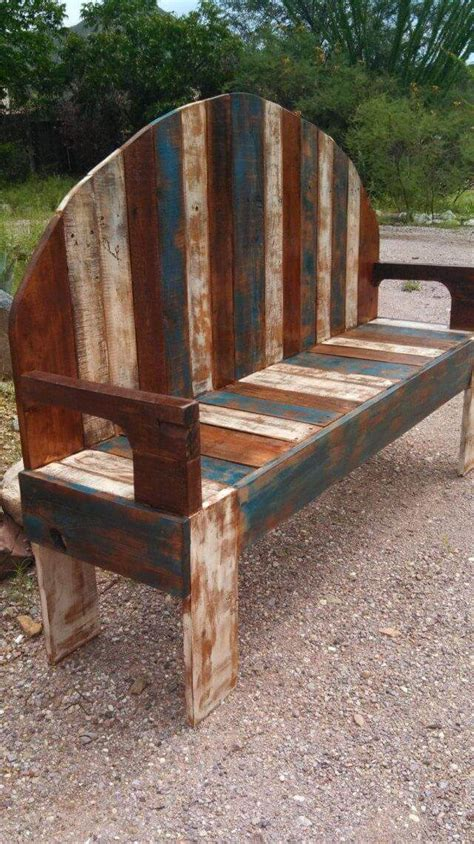 rustic pallet bench handmade rustic pallet bench 101 pallets