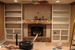 fireplace with built in bookshelves 4th day the wall is hung between the shelves we also used wall to frame in the