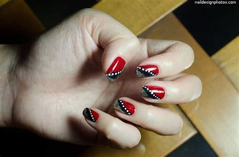 easy nail art red simple nail art designs black and red www imgkid com