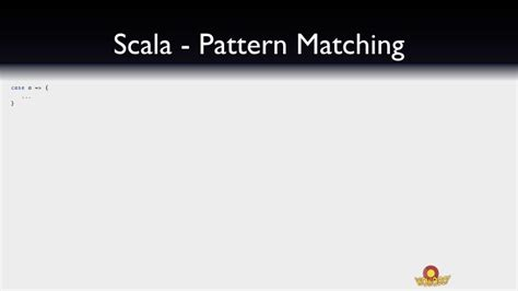 scala pattern matching variable name building concurrent webobjects applications with scala