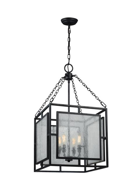 Modern Lighting Fans 4 Light Geometric Weathered Zinc Modern Rustic Pendant Lighting