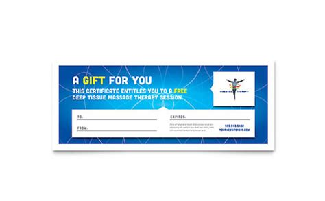 Chiropractic Gift Certificate Template by Chiropractor Therapist Graphic Designs Templates