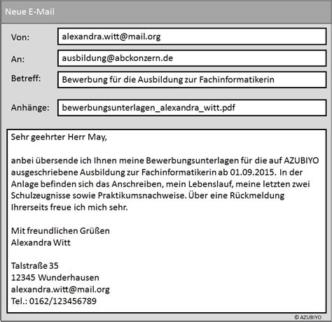 Email Bewerbung Was In Mail Muster Tipps F 252 R Die E Mail Bewerbung Azubiyo