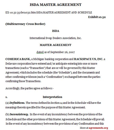 isda master agreement sle isda master agreement