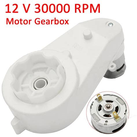 Go For Speed Armor With 30000 Rpm Motor 12v 30000 turn rpm kid electric motor gear box for car bike part replacement tosave