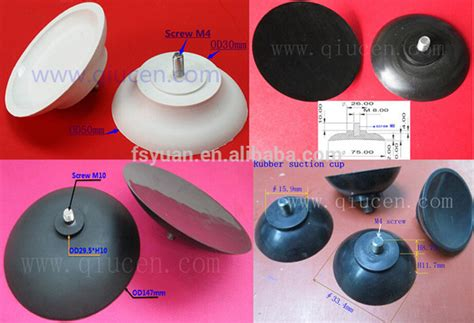 Rubber Suction Cup With Lead Screw Glass Table Suction