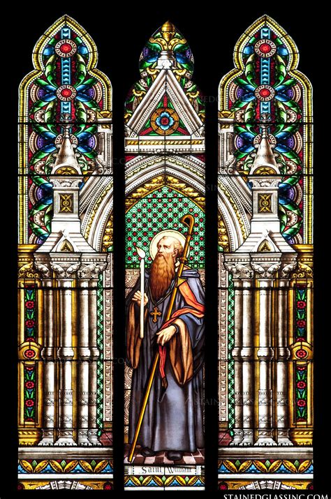 St Wiliam quot st william quot religious stained glass window