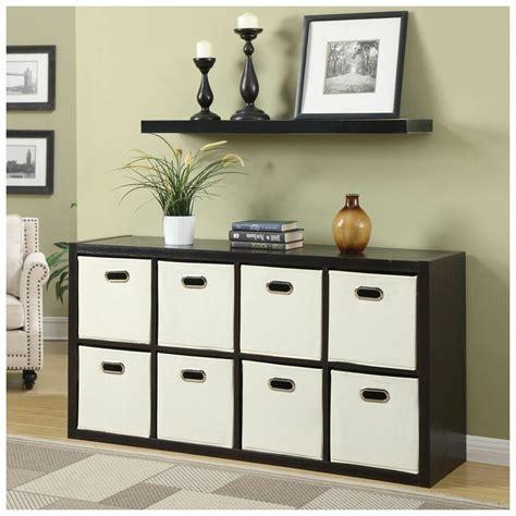 room storage furniture 8 cube organizer divider shelves with fabric bins new ebay