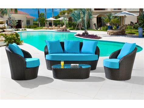 outdoor sitzlounge table basse jardin turquoise ezooq