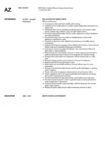Relations Account Executive Sle Resume by Relations Account Executive Resume Sle Velvet