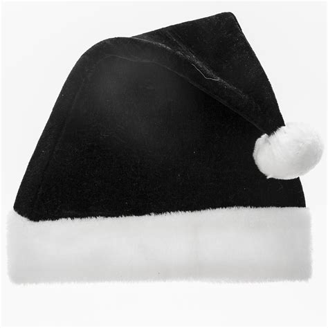 black santa hats tag hats