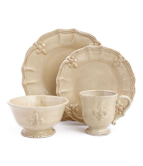 Walmart Kitchen Canister Sets Artimino Fleur De Lis Earthenware Dinnerware Dillards