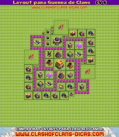 layout pra cv 6 layouts para guerra de clans cv 6 clash of clans dicas