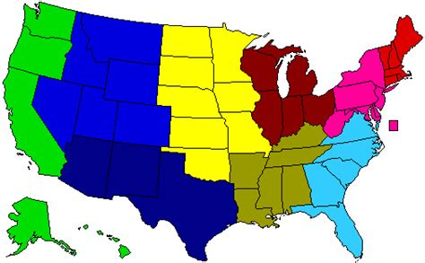 8 regions of the united states map dividing the us into regions