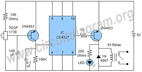 remote light switch circuit diagram infrared remote switch circuit diagram