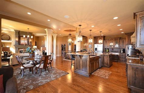 open kitchen dining and living room floor plans dream home open floor plan between kitchen to living