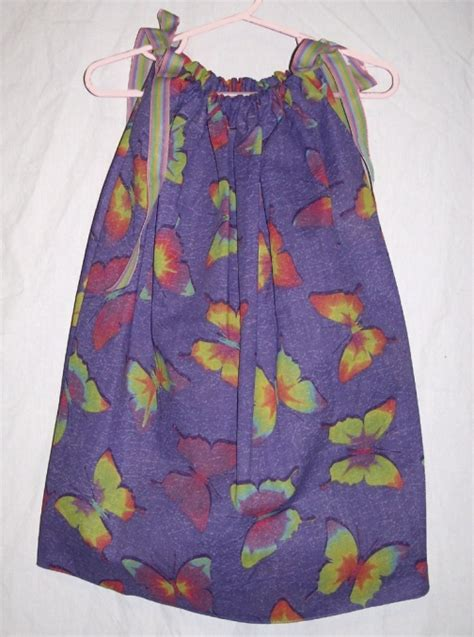 Selling Handmade Clothes - purple butterfly boutique pillowcase dress by mamamonkey