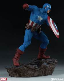 marvel captain america statue by sideshow collectibles