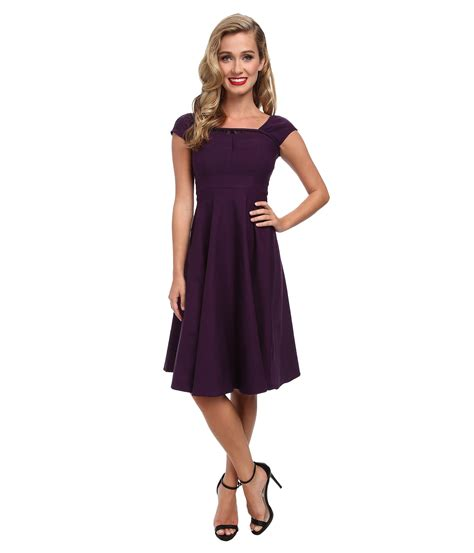 stop staring swing dress stop staring swing dress with lace detail at top egg plant