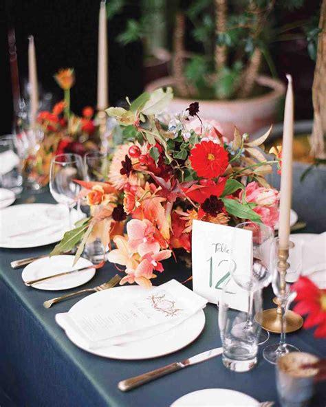 table decorations martha stewart 51 rustic fall wedding centerpieces martha stewart weddings