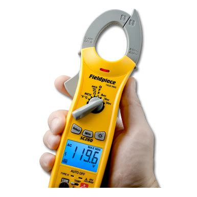 compact clamp meter with true rms packed with hvacr