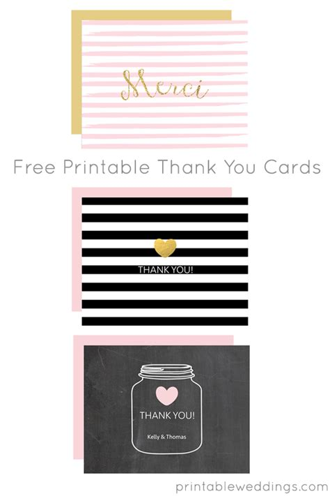 Thank You Card Templates Free by Free Printable Thank You Card Templates From Chicfetti