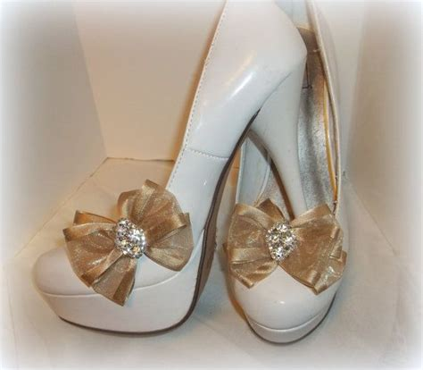Set Sabrina Bow shoe toffee chiffon bows set of 2 womens by shoeclipsonly 26 00 shoe only