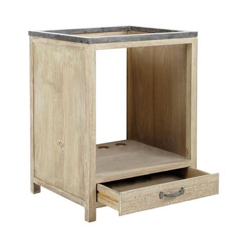 four pour cuisine 駲uip馥 meuble bas de cuisine pour four en bois recycl 233 l 64 cm