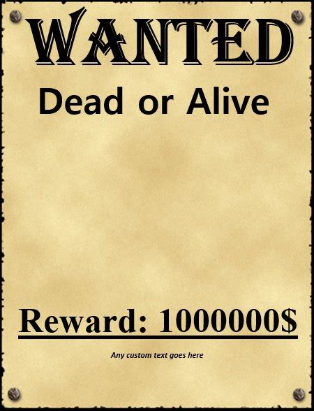 most wanted template 29 free wanted poster templates fbi and west