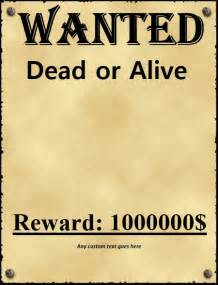 Wanted Poster Template by 29 Free Wanted Poster Templates Fbi And West