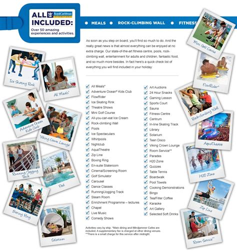 What S Included what s included in your cruise royal caribbean