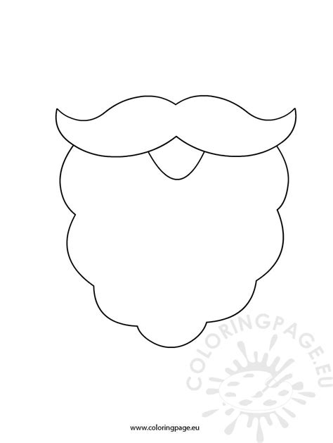 beard template printable white beard template new calendar template site