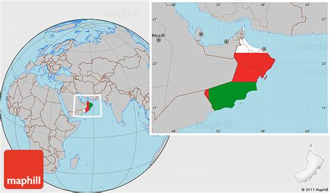oman location in world map flag location map of oman gray outside