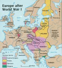 Map Of Europe Ww1 by Political Map Of Europe During World War 1