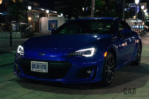 blue subaru 2017 review 2017 subaru brz sport tech canadian auto review
