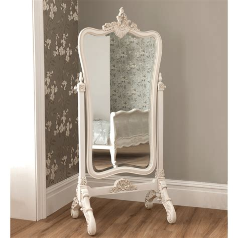 la rochelle antique french cheval mirror