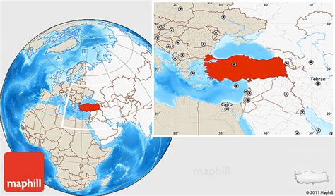 middle east highlighted map shaded relief location map of turkey highlighted continent