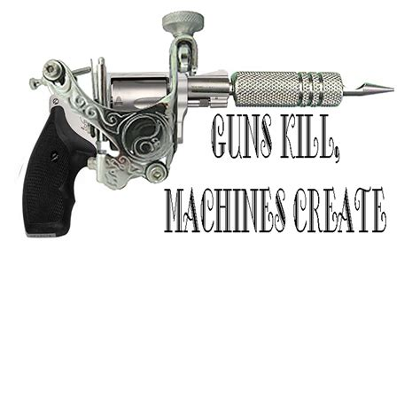 machine gun tattoo scabs flaking tattoos guns