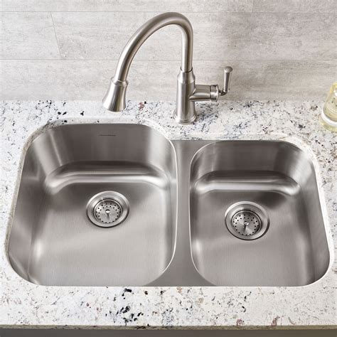 Portsmouth Undermount Double Bowl Kitchen Sink American Kitchen Sink Bowls