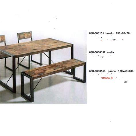 panca con tavolo e sedie panca tavolo sedie industriale complementi a prezzi scontati