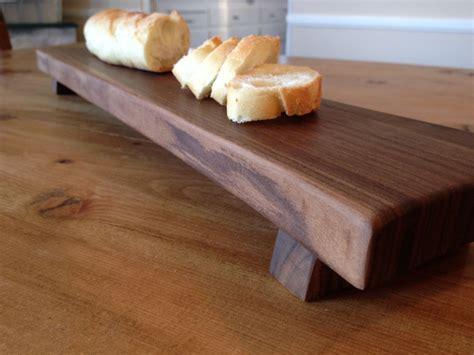 handmade baguette footed bread board walnut  farmhouse table company custommadecom