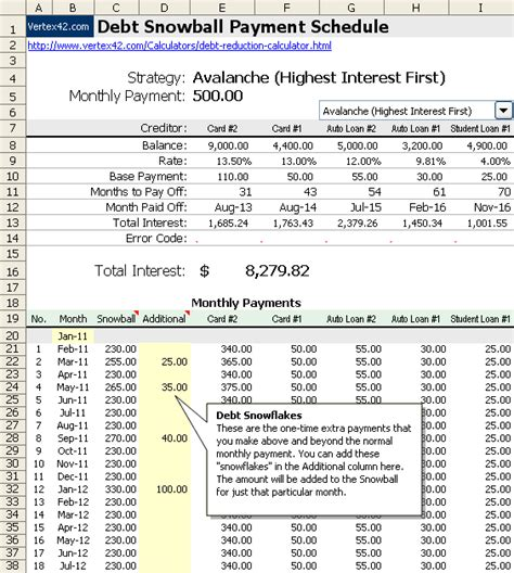 debt payoff calculator excel loan payoff calculator excel full size
