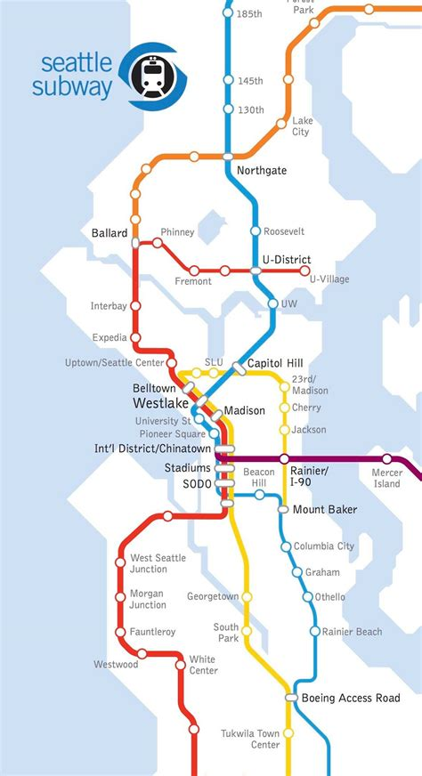 seattle link light rail map light rail in st3 a region defining decision 187 the urbanist