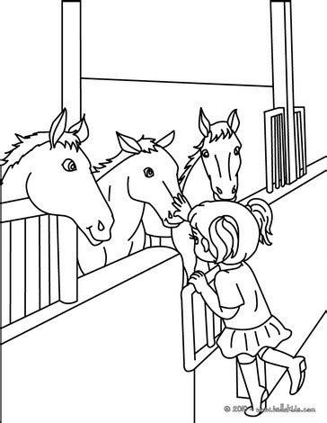 horses in stable coloring pages hellokids com