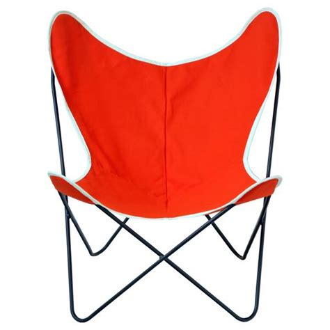 orange canvas butterfly chair butterfly sling chair orange canvas