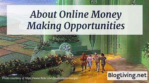 Online Money Making Opportunities - how about mlm blogliving net