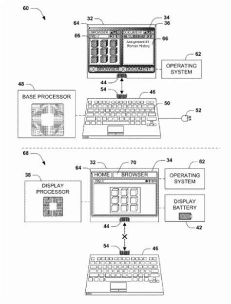 Microsoft patent allows a tablet to convert to a laptop or