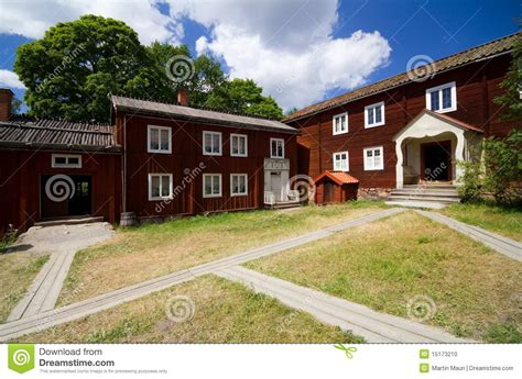 traditional swedish house plans traditional old swedish house stock photo image 15173210